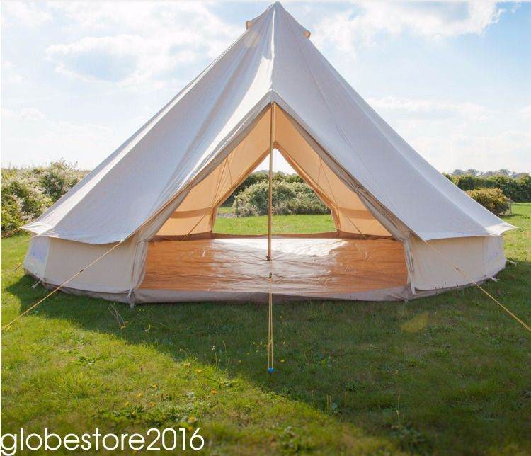 4M/13.1ft Bell Tent Cotton Canvas Waterproof Gl&ing C&ing Luxury Safari Tent | eBay & 4M/13.1ft Bell Tent Cotton Canvas Waterproof Glamping Camping Luxury ...