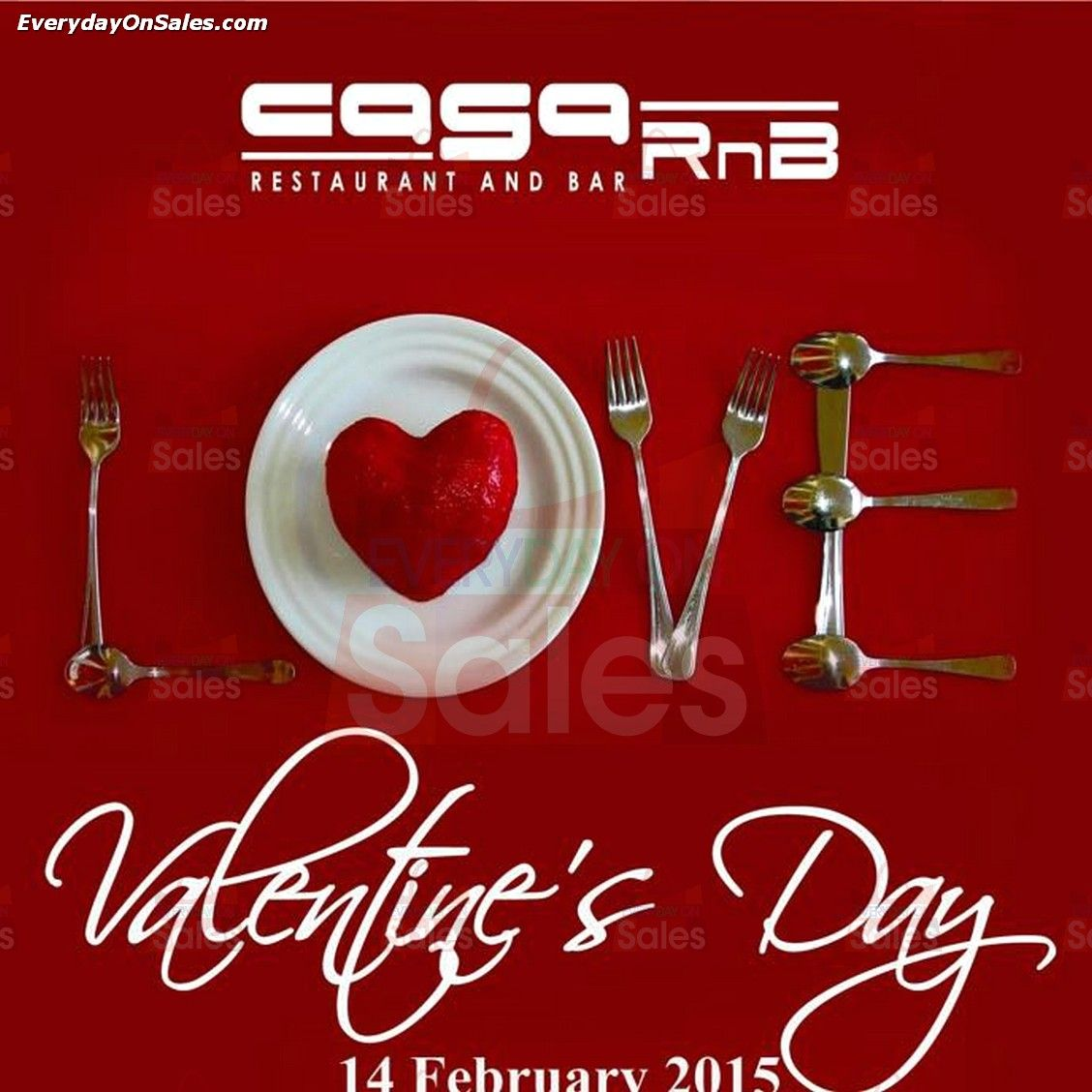 14 feb 2015 casa rnb restaurant and bar valentines day promotion
