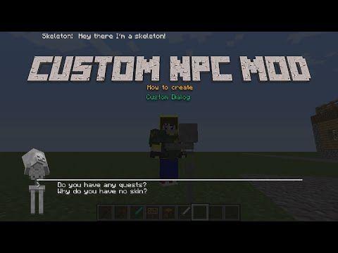Minecraft Mod tutorial  Custom NPC Mod Dialog tutorial