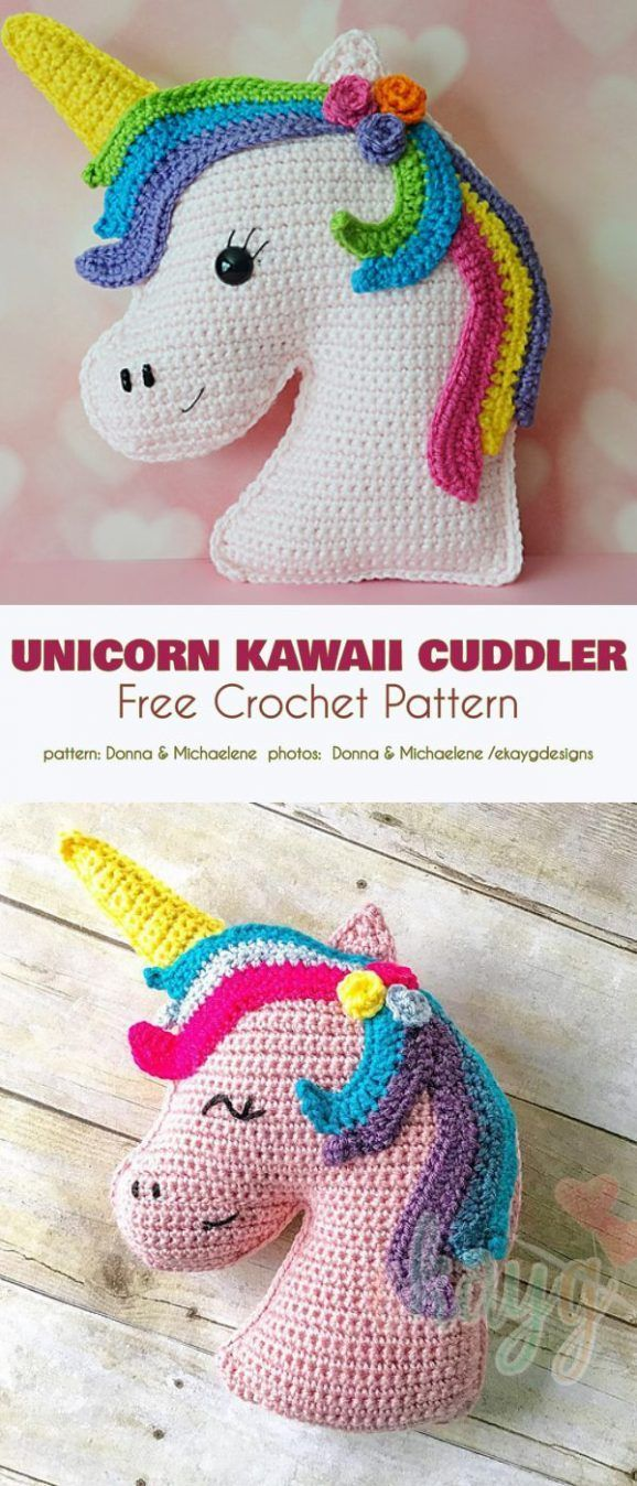 Unicorn Kawaii Cuddler Free Crochet Pattern :  Unicorn Kawaii Cuddler Free Crochet Pattern A unicor