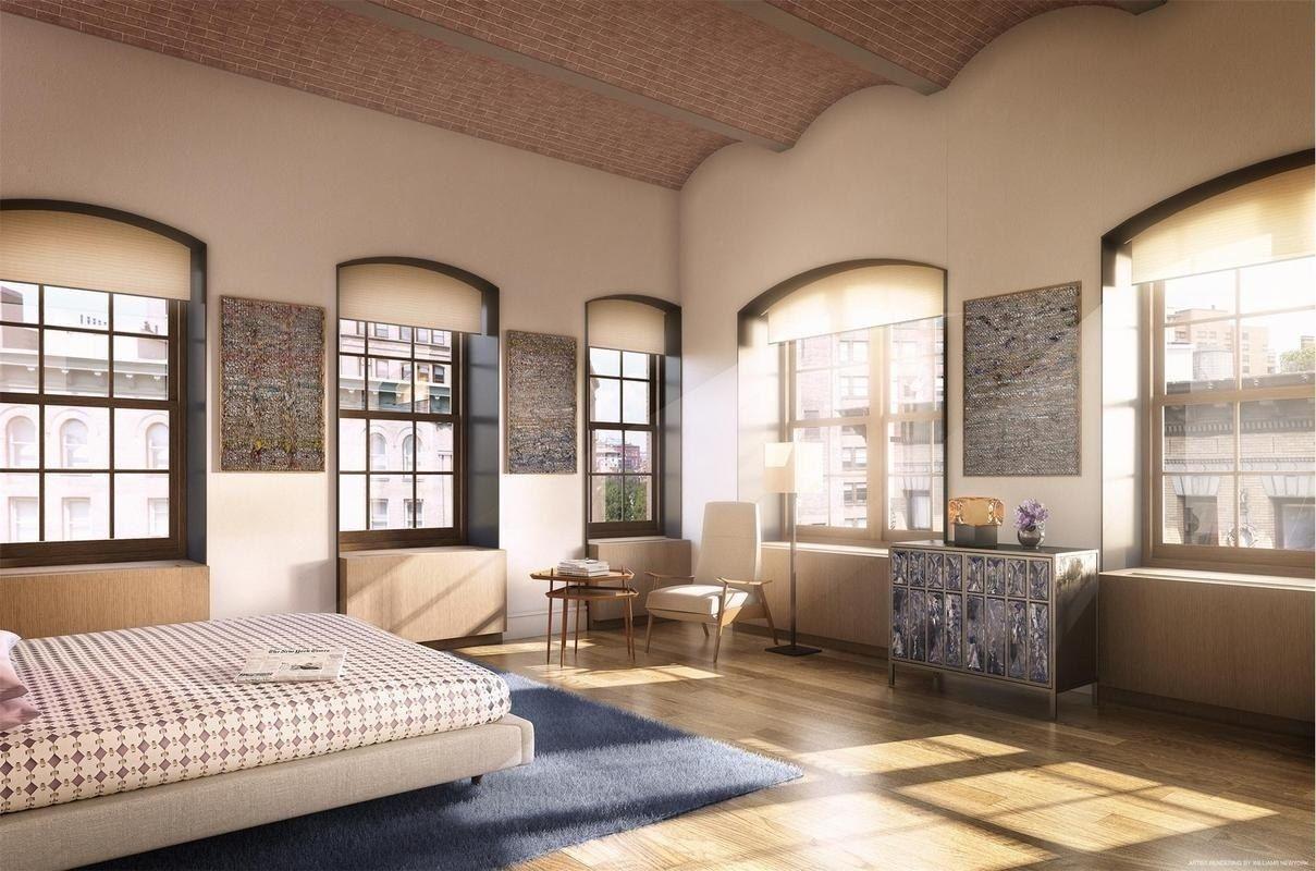 """ArchitecturalDigest.com - 2016 May 9 - Tour Jonah Hill's New Manhattan Loft - """"A light-filled bedroom."""""""