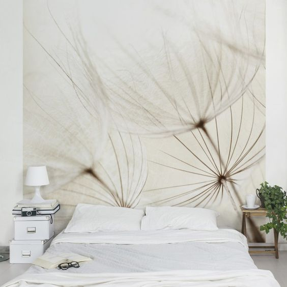 fototapete blumen sanfte gr ser vliestapete quadrat einrichten und wohnen tapeten. Black Bedroom Furniture Sets. Home Design Ideas