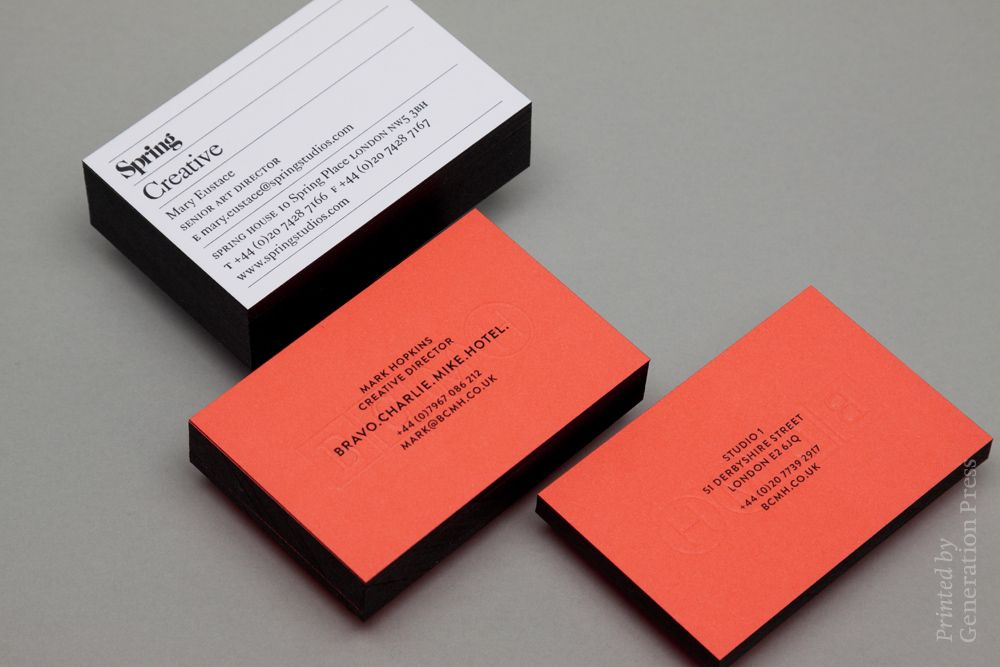 Generation Press — Spring Creative & BCMH: Business Cards – Printed ...