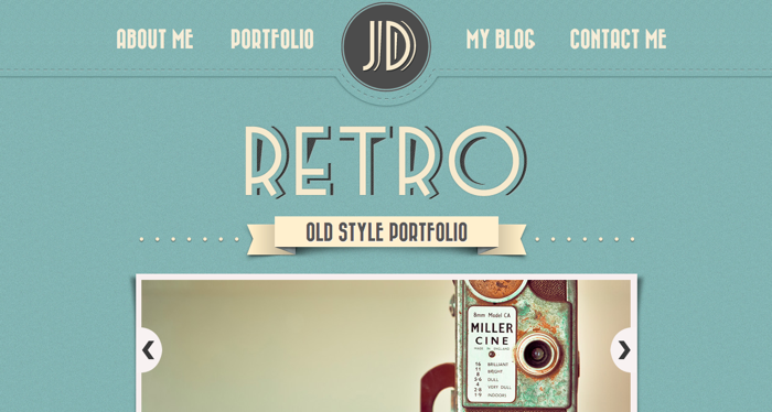 retro website