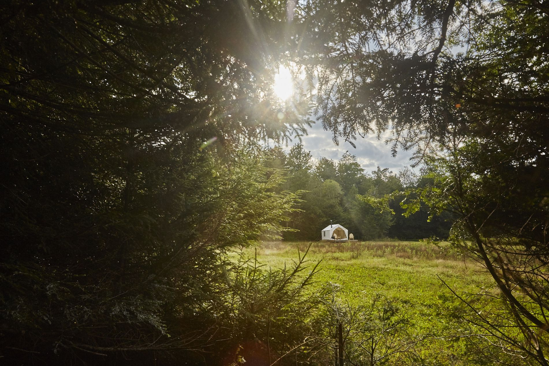 Greet The Morning Sun From Your Tent As It Rises Above High Peak