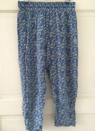 Kaufe meinen Artikel bei #Kleiderkreisel http://www.kleiderkreisel.de/damenmode/haremshosen/123519218-haremshose-stoffhose-sommerhose-blumenmuster-blumchen-muster-blau-gelb-hippie-boho-goa-hipster