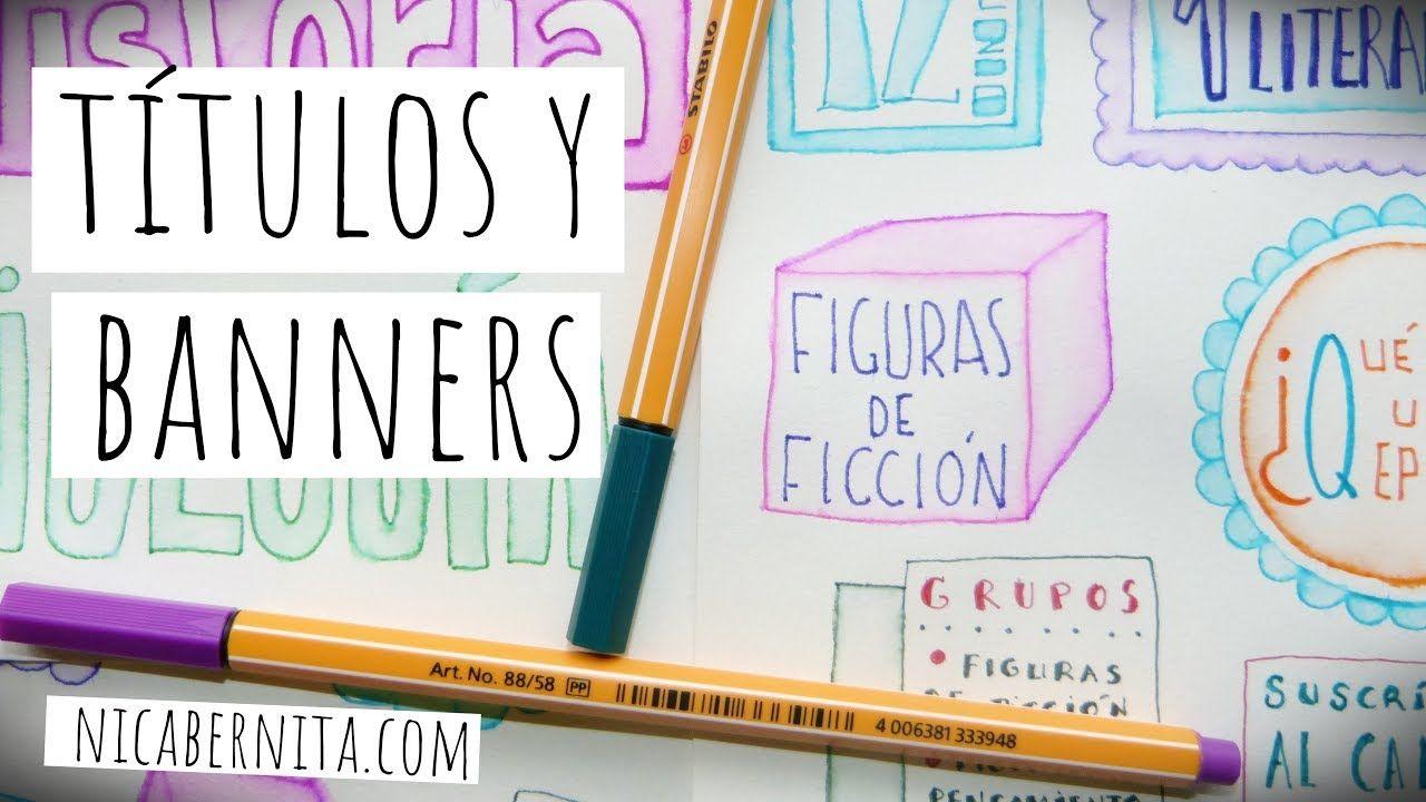 Ideas Para Decorar Cuadernos Y Trabajos Escolares Títulos