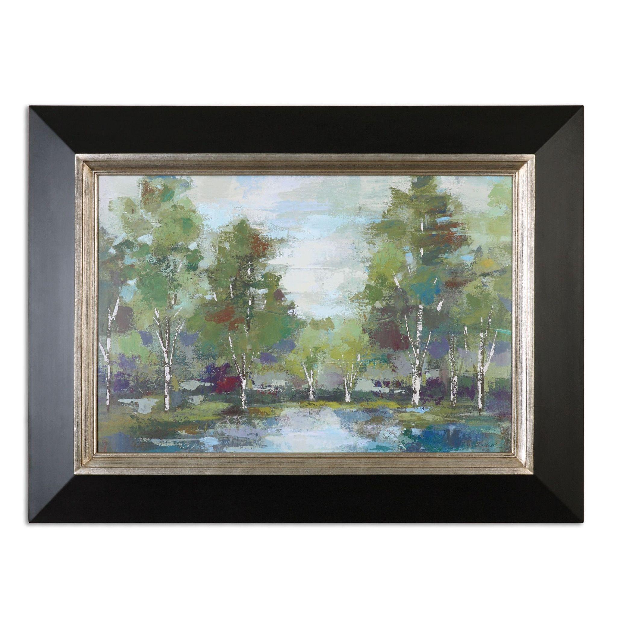 Forest At Dawn Landscape Art