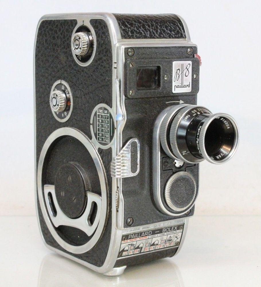 vintage paillard bolex b8 film movie cine 8mm camera with yvar 1 9 13mm lens infoworld2000. Black Bedroom Furniture Sets. Home Design Ideas