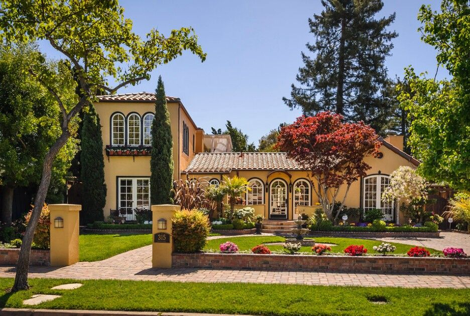 Curb Appeal On A Mediterranean Style Home Exterior Color
