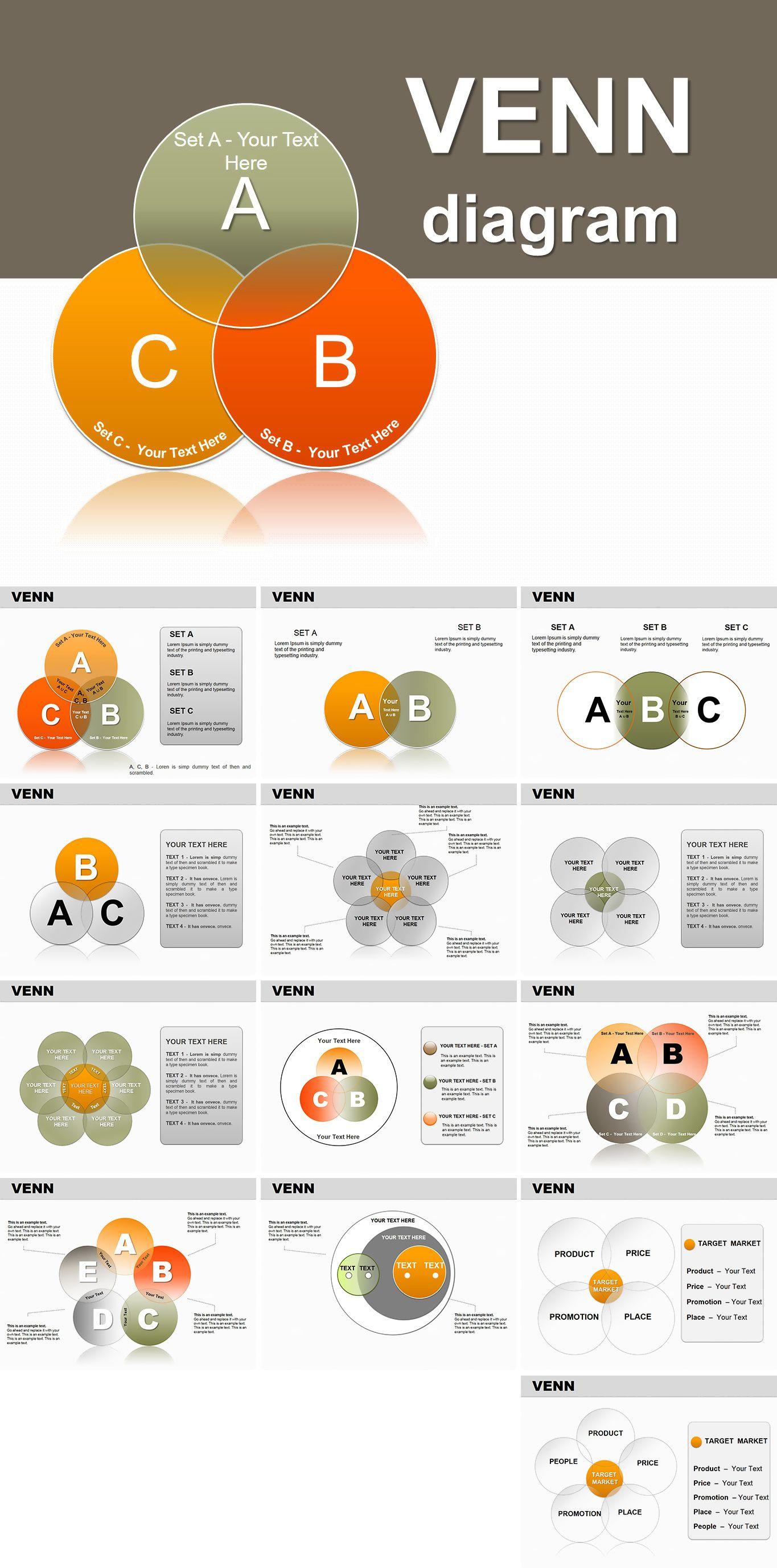 Probability Venn Powerpoint Diagrams