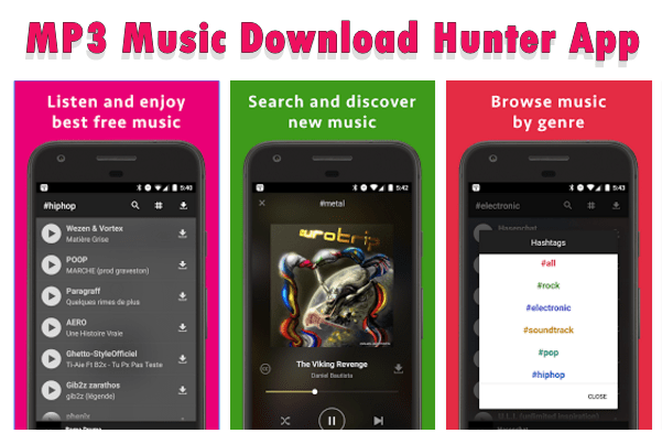 MP3 Music Download Hunter App for Android (Latest Version