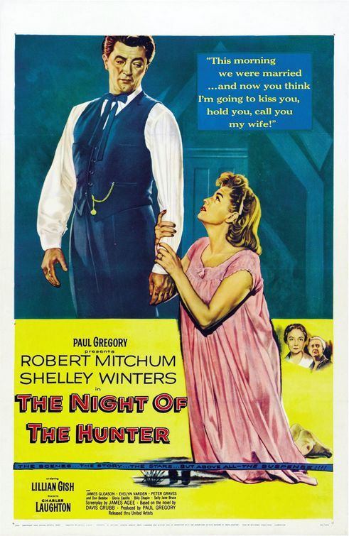 the night of the hunter movie poster | The Night of the Hunter (1955)