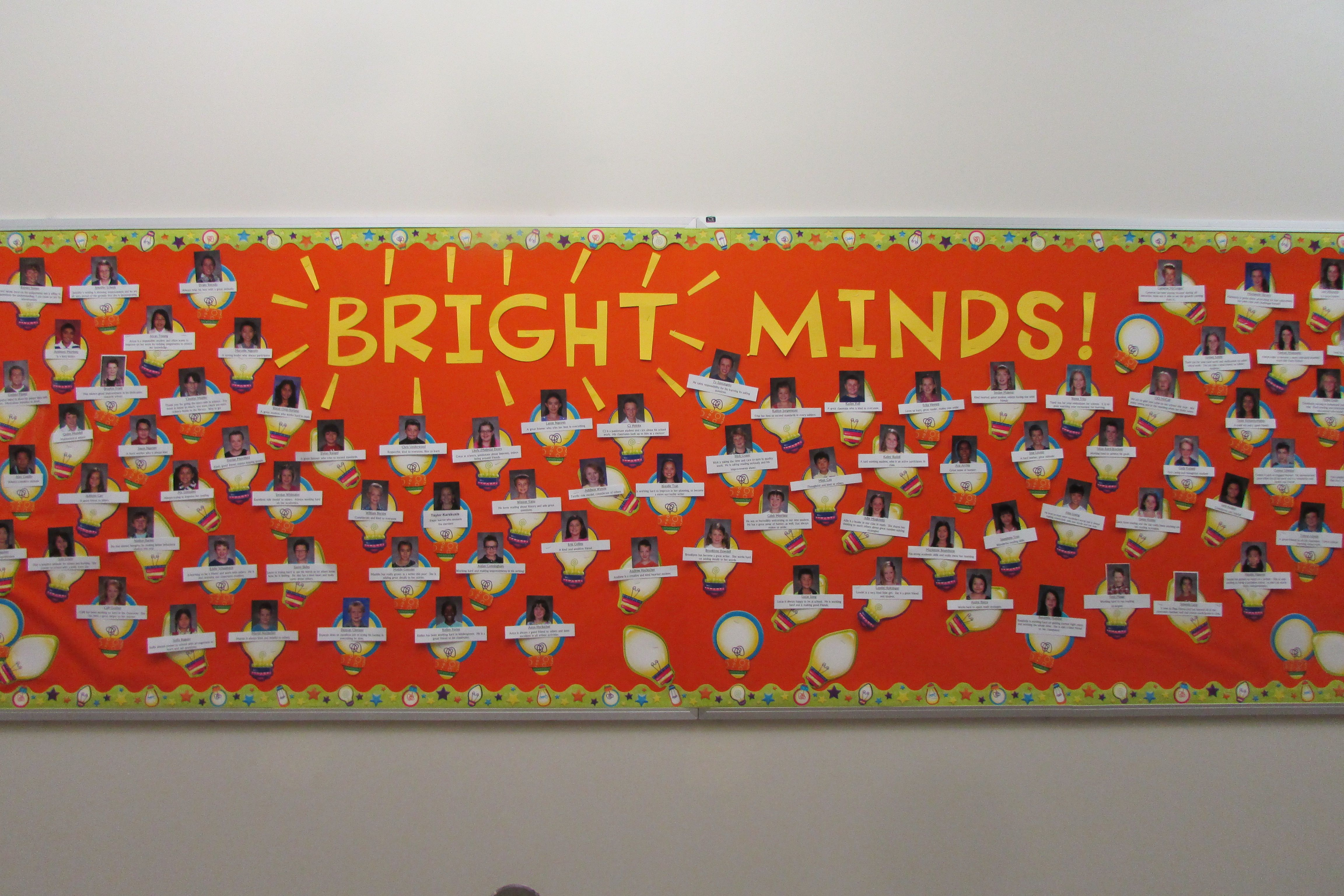 Bright Minds Using Light Bulb Cutouts Bright Minds Light Bulb Wall Of Fame