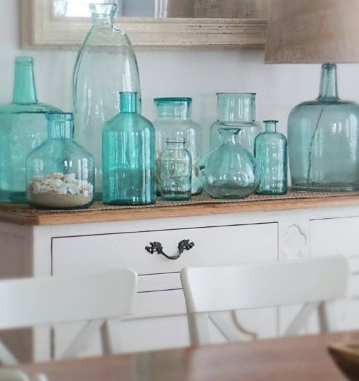 Photo of Blue Green Ocean Colored Vases