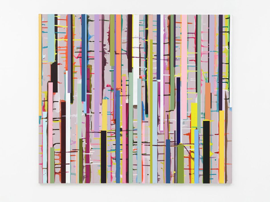 Ien Lucas, 02.07.2010 (let's get into the woods tonight), acrylic on canvas, 140 x 160 cm © Ien Lucas/Galerie Ramakers