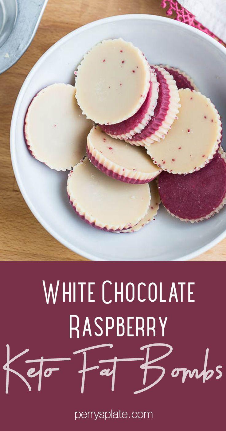 Keto White Chocolate Raspberry Fat Bombs