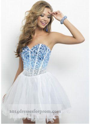 Images of Blue And White Prom Dresses - Reikian