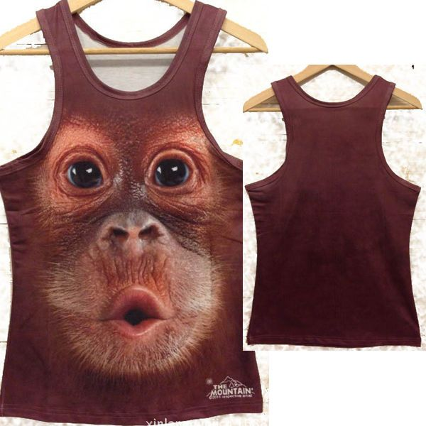 768ab94a4040a US M Mens Novelty 3D Monkey Face Pattern Sleeveless Tank Tops T-shirts  Vests Tee  New  BasicTee