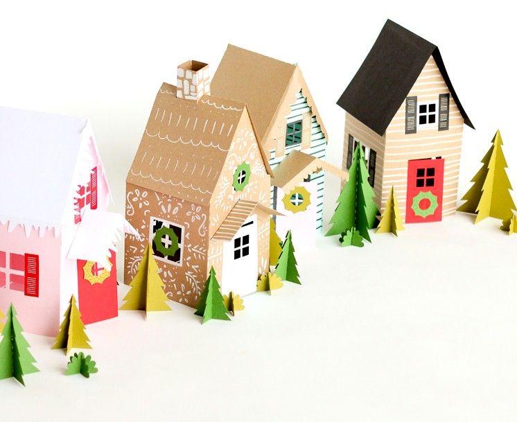 32+ Diy christmas village houses template inspirations