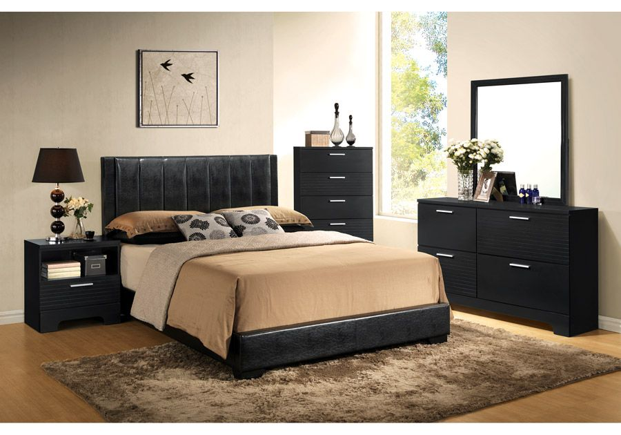 Emily 5 PC Black Queen Bedroom   Badcock Home Furniture U0026 More Of South  Florida
