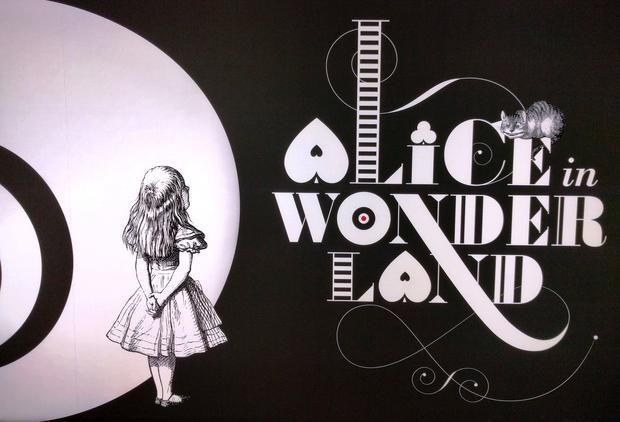A modern graphic for the Alice in Wonderland series  prepared for the British Library exhibition