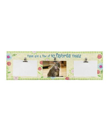 This Flower 'My Favorite Things' Three-Photo Clip Frame is perfect! #zulilyfinds