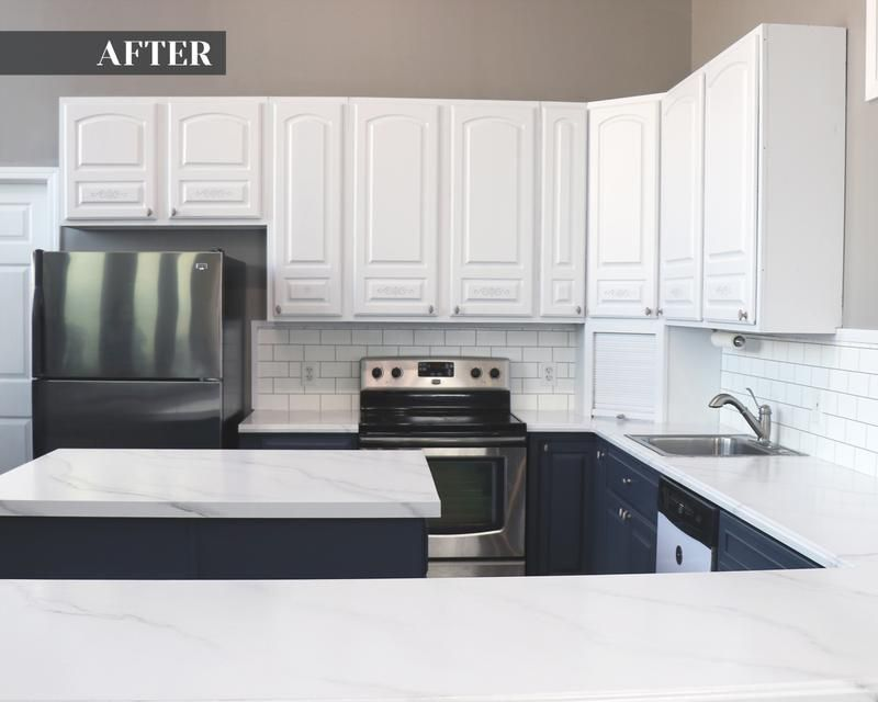 After Using Giani Diy Marble Countertop Paint Kit Easy Countertop