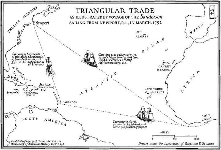 Triangular Trade Was A Form Part Of A Three Legged Trade