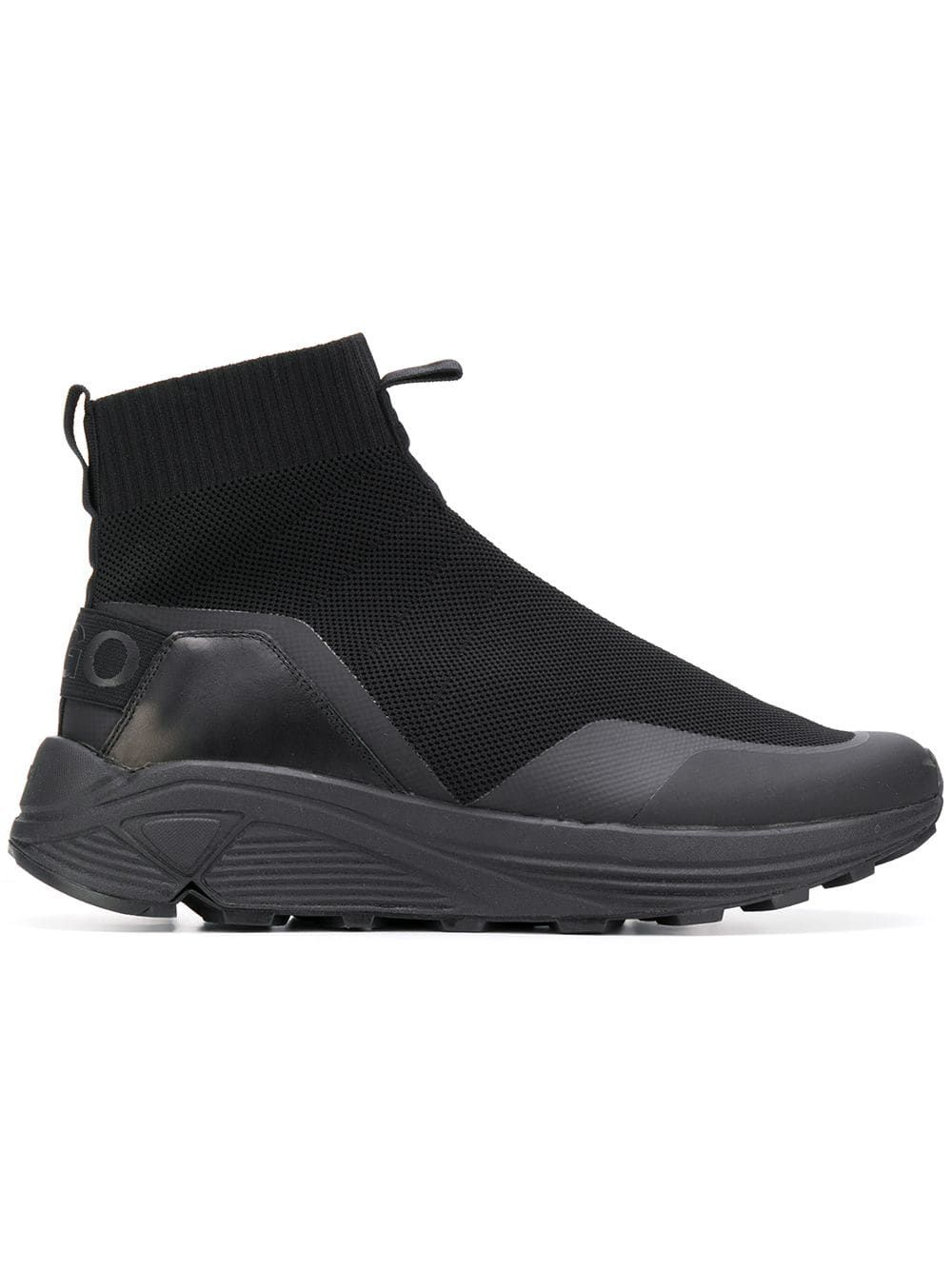 912440f38ad BOSS HUGO BOSS BOSS HUGO BOSS WAFFLED SOCK SNEAKERS - BLACK ...