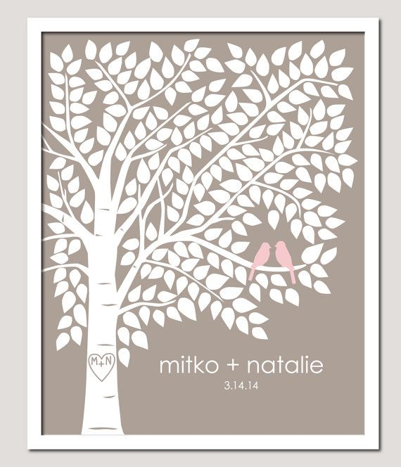 Wedding Guest Signing Tree: Guest Book Alternative Guest Book Signing Tree Guest Book