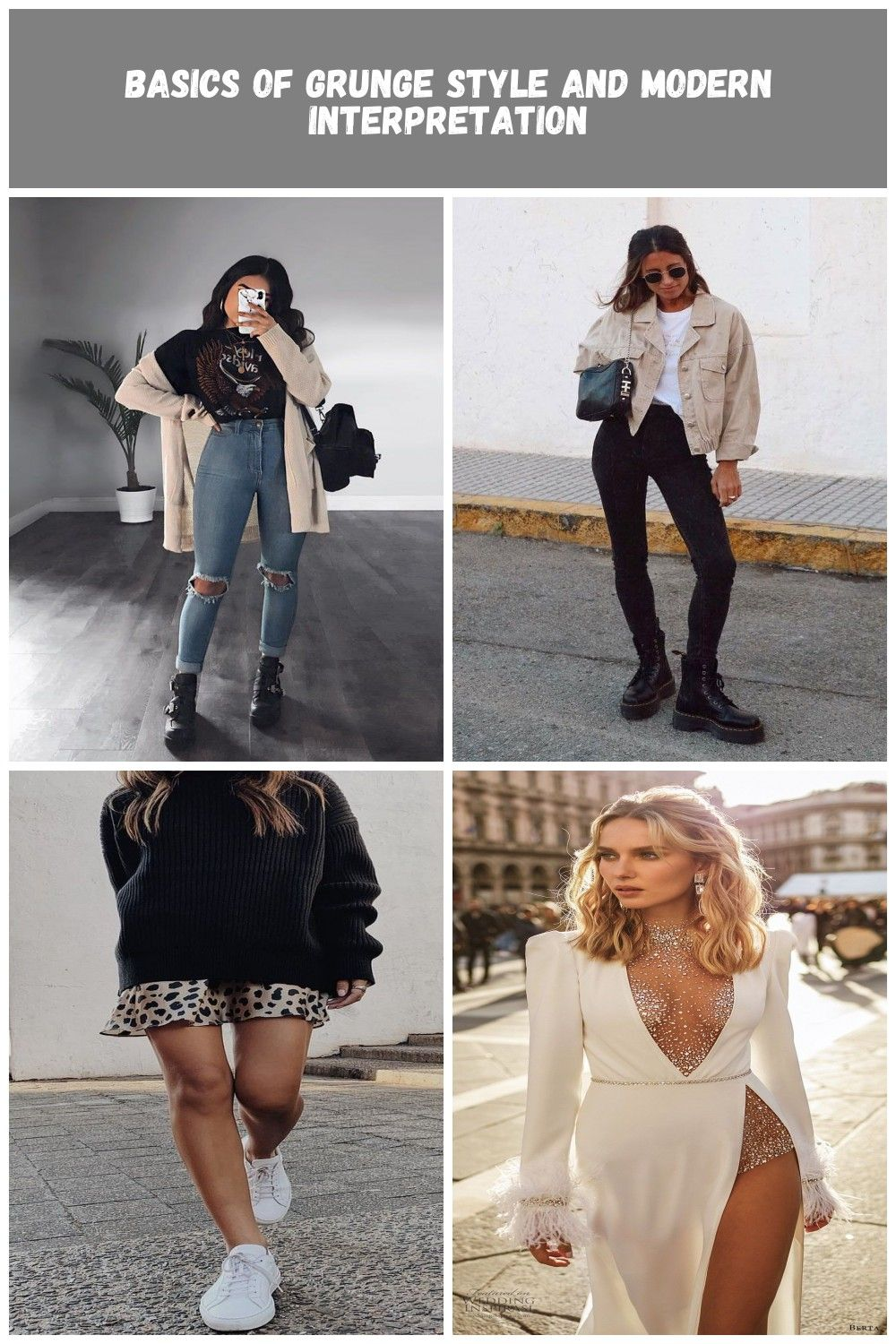 Ripped Jeans With Long Cardigan #longcardigan #rippedjeans ★ Edgy grunge style from the 90s to inspire your street style. #grungestyle #grungeoutfit...