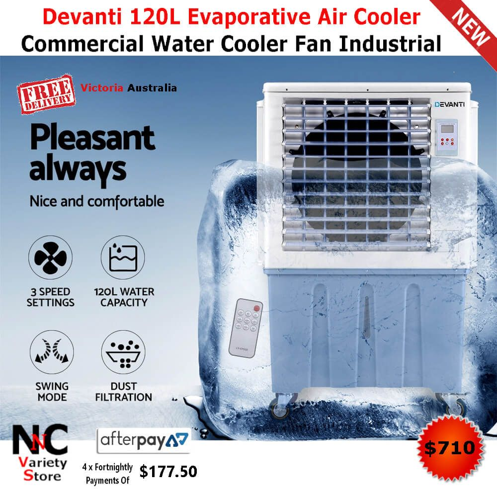 Devanti 120L Evaporative Air Cooler Commercial Water