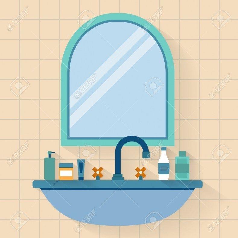 Bathroom Mirror Clipart วอลเปเปอร