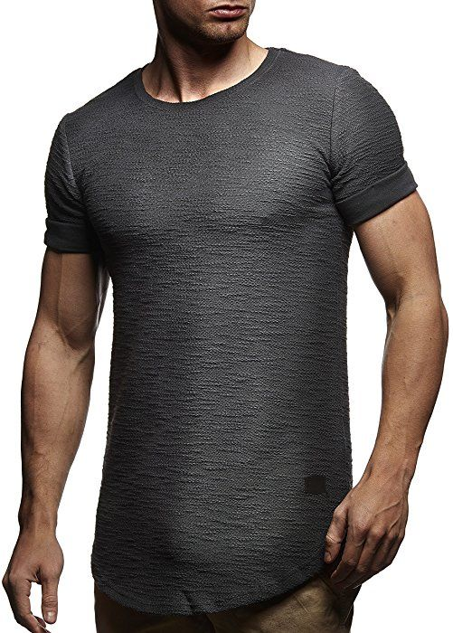 LEIF NELSON Herren T-Shirt Hoodie Pullover Longsleeve Sweatshirt Hoodie  Rundhals Ausschnitt LN6324; Größe