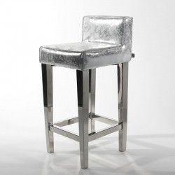 Inspirational Black and Silver Bar Stools