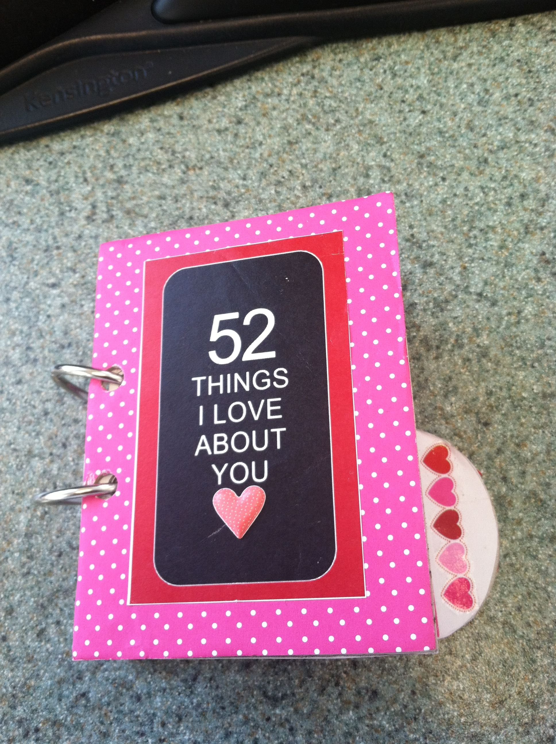 52 things i love about you book that i made for husband