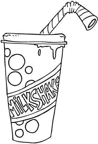 strawberry milkshake coloring page free printable coloring