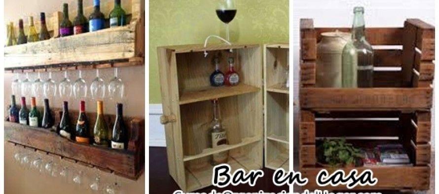 Bar en casa hecho con pallets recicladas