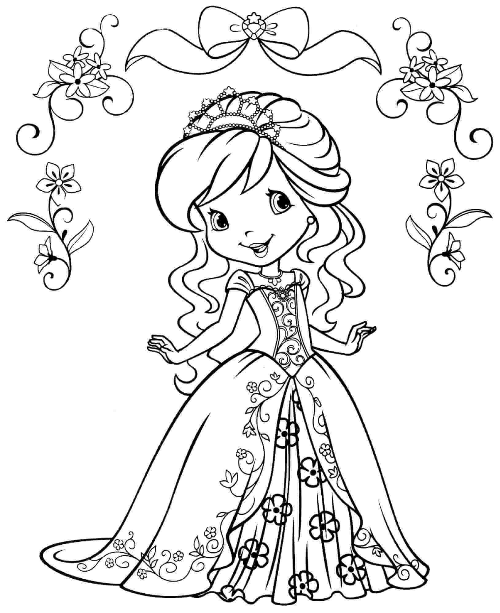Coloring Page Princess Valentine Youngandtae Com In 2020 Strawberry Shortcake Coloring Pages Princess Coloring Pages Cartoon Coloring Pages