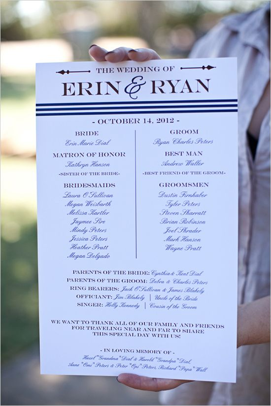 Texas Destination Wedding At Vista West Ranch  Wedding Programs
