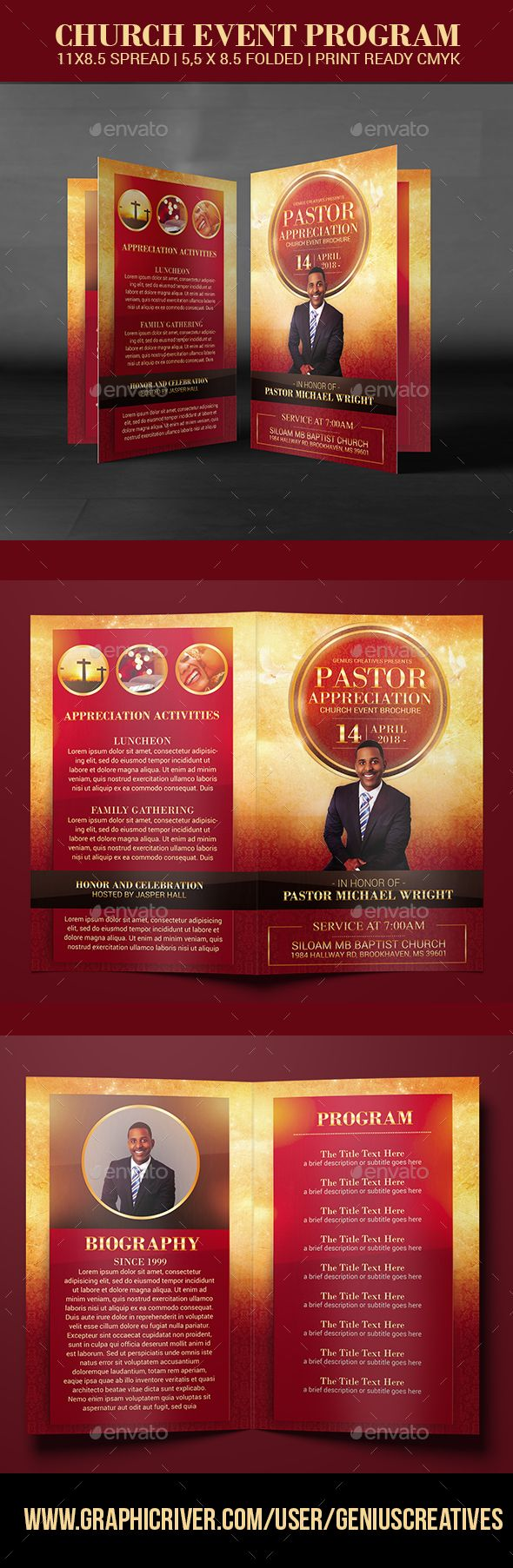 Pastor Appreciation Church Event Program  Pastor Churches And
