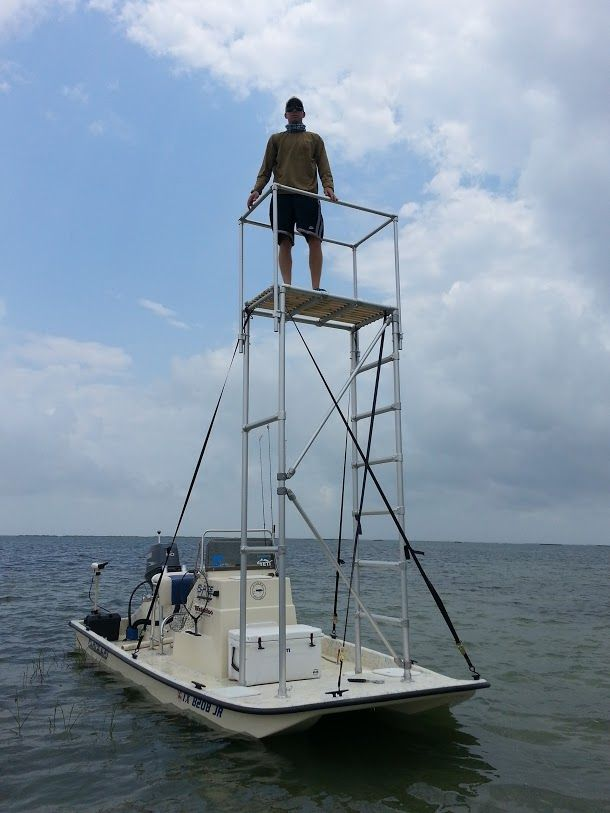 Cat Power Boat With Sight Fishing Tower Small Catamarans