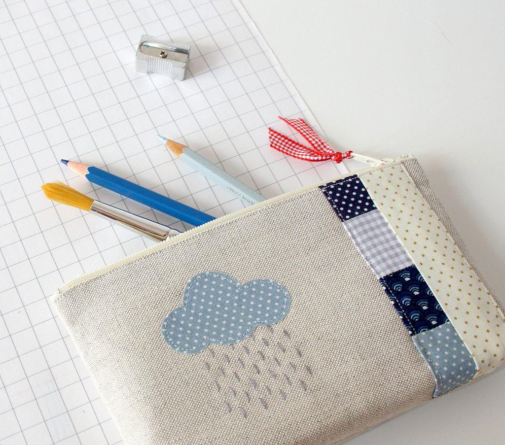 c 39 est la pluie diy sewing quilting pencil case pouch. Black Bedroom Furniture Sets. Home Design Ideas