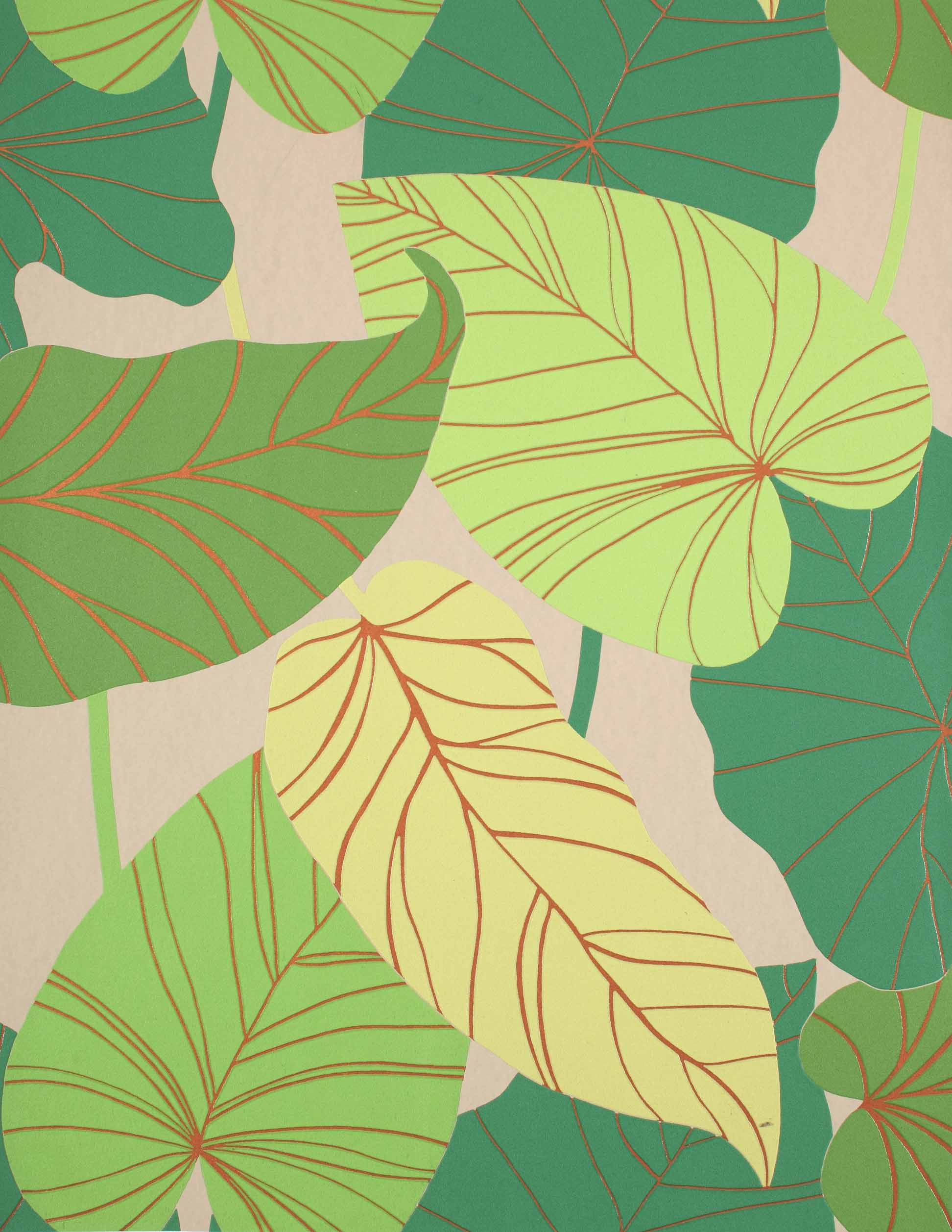 TOULON TROPICAL LEAF [YTR-97000] : Designer Wallcoverings, Specialty ...