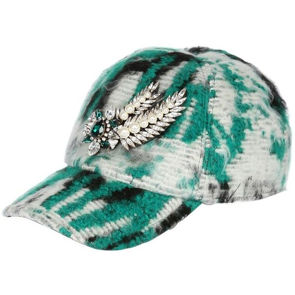 3e3c0538d36 SHOUROUK Embellished Printed Baseball Hat (1