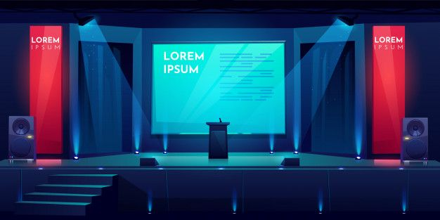 Download Conference Hall, Stage For Presentation, Scene for free