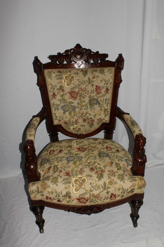 Victorian Renaissance Revival John Jelliff Arm Chair With