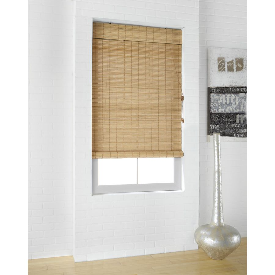 Bamboo shades bring some earthy boho goodness to the kitchen! @lowes ...