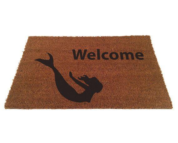 Mermaid Welcome Doormat by uncommondoormats on Etsy, $36.50